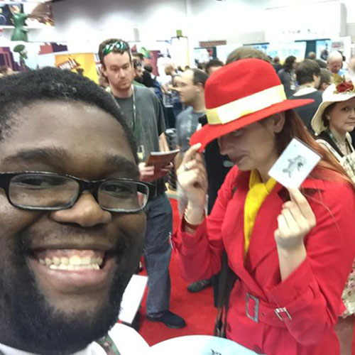 Marcus with Carmen Sandiego