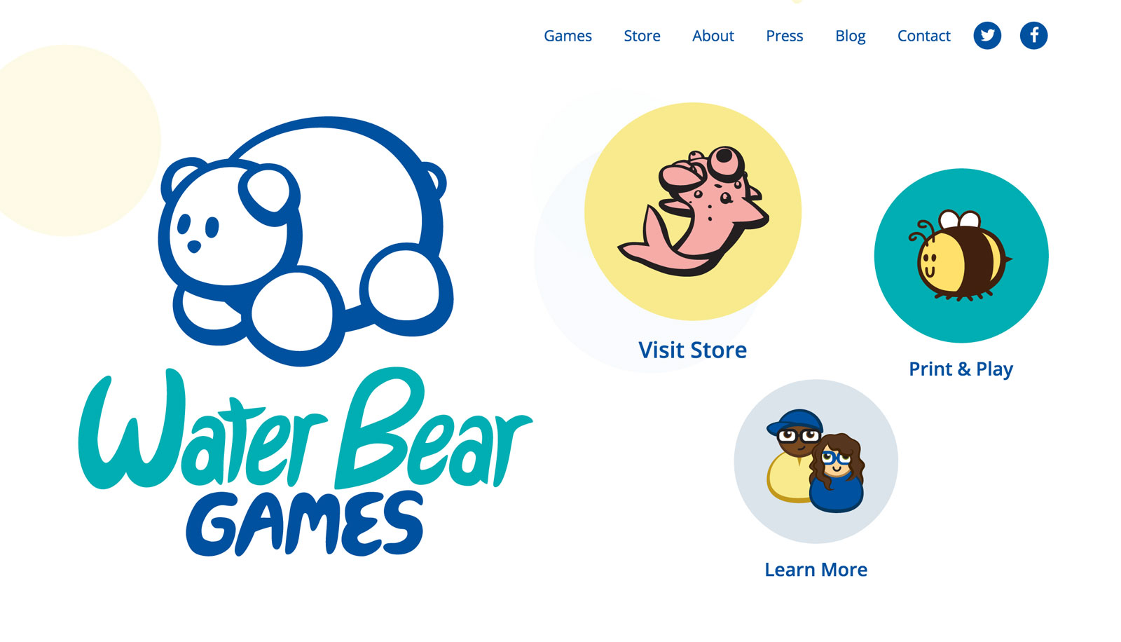 Water Bear Games new website