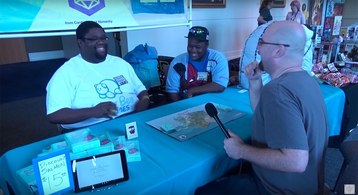 Marcus being interviewed by UsernameNerd