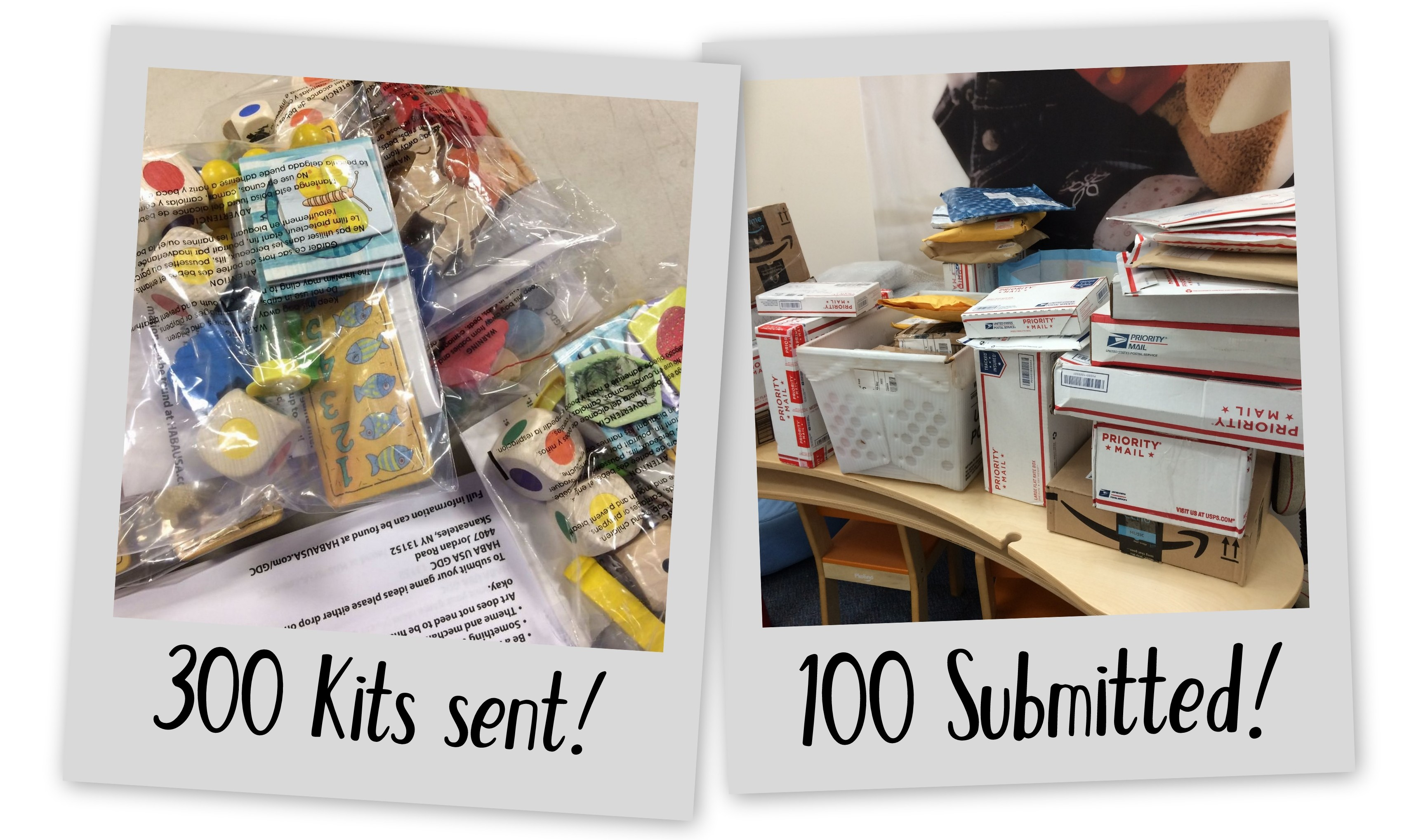 300 kits sent, 100 submitted